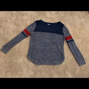 Scoop Neck Round Hem Knitted Sweater